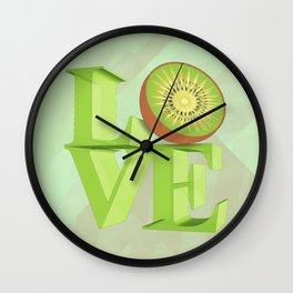 I LOVE KIWI !!! Wall Clock