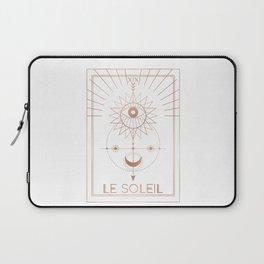 Le Soleil or The Sun Tarot White Edition Laptop Sleeve