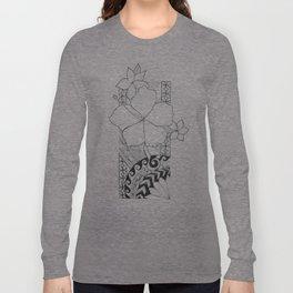 Hawaiian Style Hibiscus Long Sleeve T-shirt
