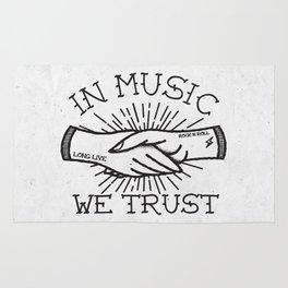 In Music We Trust Rug