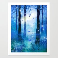 Sunrise in Winter Art Print