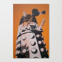 dalek Canvas Prints featuring Dalek by cocksoupart