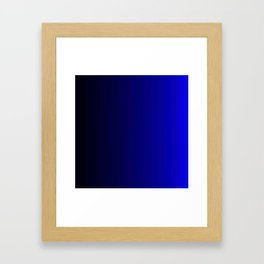 Rich Vibrant Indigo Blue Gradient Framed Art Print