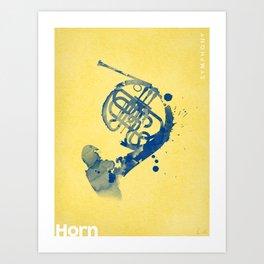 Symphony Series: Horn Art Print