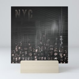 MODERN ART New York City Skylines | black Mini Art Print
