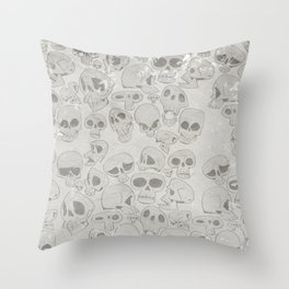 Skulls Pattern Throw Pillow