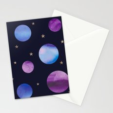Planets and Stars Stationery Cards