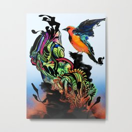 Rising Metal Print