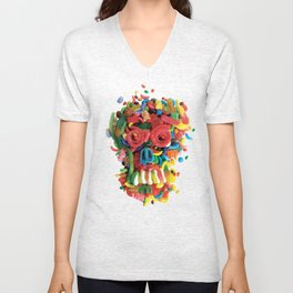 Death and Tooth Decay Unisex V-Neck