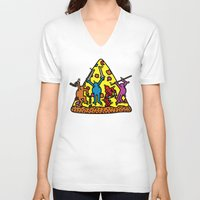 keith haring V-neck T-shirts featuring Keith Haring & Turtle by le.duc