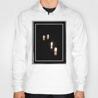 lanterns Hoodies featuring Lanterns of Healing (Japan) by Julie Maxwell