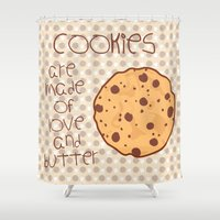 cookies Shower Curtains featuring Cookies by Mim sh.