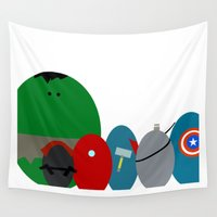avenger Wall Tapestries featuring The Eggengers  by Fernando Vieira