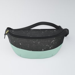 Pastel Mint Meets Black Marble #1 #decor #art #society6 Fanny Pack