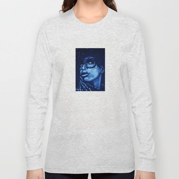 badu?!-blue Long Sleeve T-shirt
