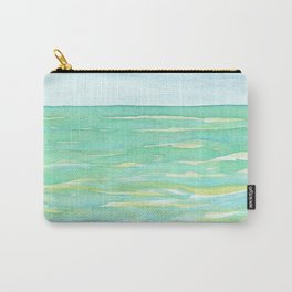 Ocean Mint watercolor seascape mint green Carry-All Pouch