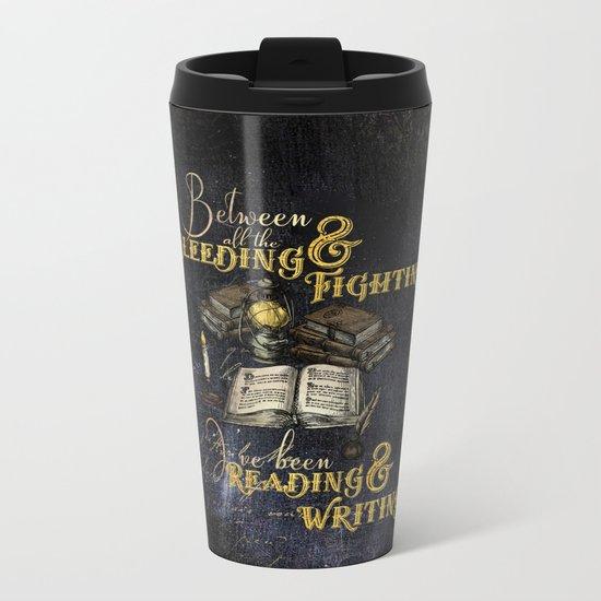 Reading & Writing Metal Travel Mug