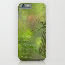Happiness is a Butterfly #butterfly #happiness iPhone Case
