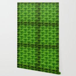 """""""Mushrooms in the Garden"""" Wonderland Style Design by Dark Decors Wallpaper"""