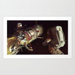 Mars Phobos Mission Art Print