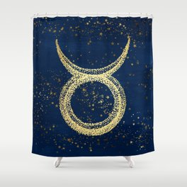 Taurus Zodiac Sign Shower Curtain
