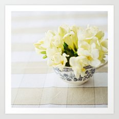 Spring in a cup Art Print