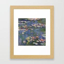 1916-Claude Monet-Waterlilies-200 x 200 Framed Art Print