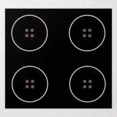 Button 2 Art Print