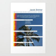 JZs Resume Art Print