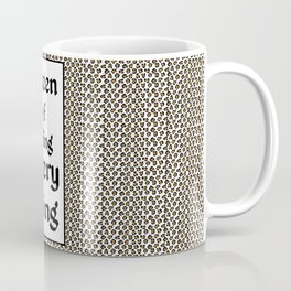Tiger King Inspired - leopard print & Social Isolation Status Statement - Queen of effing everything  Coffee Mug