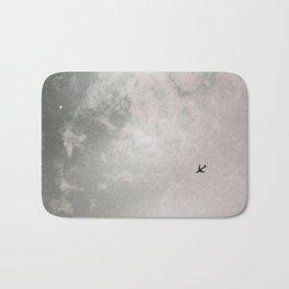 Black and white photography Sky photo minimalist Plane print Travel photography Aviation poster Bath Mat