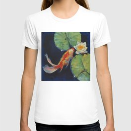 Koi and White Lily T-shirt