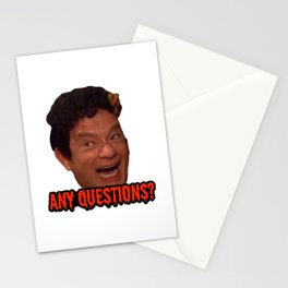 David S. Pumpkins - Any Questions? III Stationery Cards