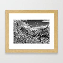 Dolomites - Rosengarten group Framed Art Print