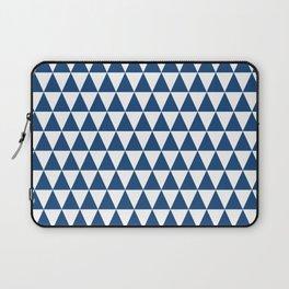 Monaco Blue and White Triangle Pattern Laptop Sleeve