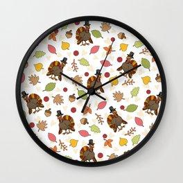 Thanksgiving Turkey pattern Wall Clock