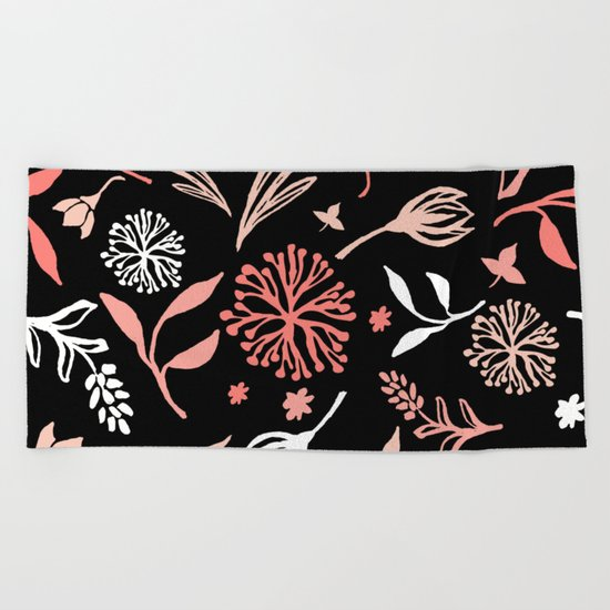 Flower pattern 2 Beach Towel