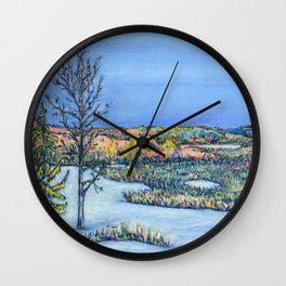 Collingwood Mountains Wall Clock