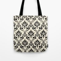 damask Tote Bags featuring Damask by MJ Lira Photography