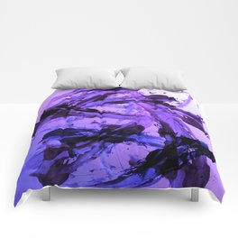 Ferocious And Calming Lavender Abstract Comforters