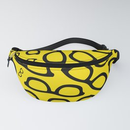 Smart Glasses Pattern - Black and Yellow Fanny Pack
