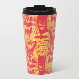 Beware the Yellow and Red Batmen Travel Mug