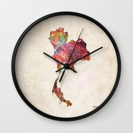 Thailand map Wall Clock