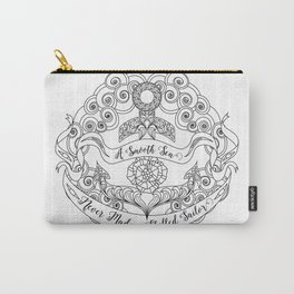Anchor Tattoo Color Your Own Art Skilled Sailor Quote Carry-All Pouch