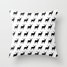 Deer Silhouettes Throw Pillow
