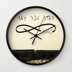 May you stay Forever Young Wall Clock
