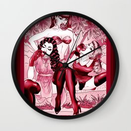 Blazing Summer Dream - Scarlet Edition Wall Clock