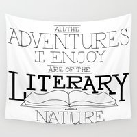 literary Wall Tapestries featuring Literary Adventures by Drop and Give Me Nerdy