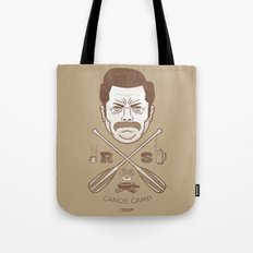 Ron Swanson Canoe Camp (dirty brown variant) Tote Bag