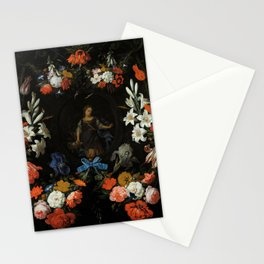 "Abraham Mignon ""Garland of Flowers"" Stationery Cards"